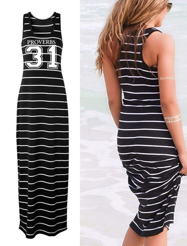 Proverbs 31 Sleeveless Maxi Dress