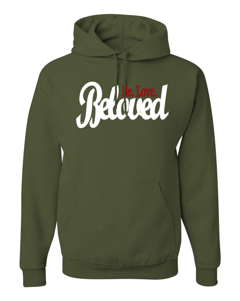 Beloved.Be.Love. Women's Hoodie - Small / Military Green - Christian T-Shirt | Christian Gifts | Christian Apparel - 3