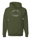 He's Always Watching My Back Hooded Sweatshirt - Small / Military Green - Christian T-Shirt | Christian Gifts | Christian Apparel - 5