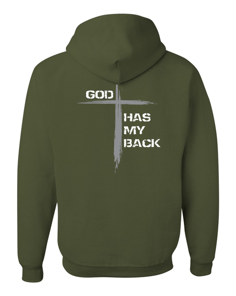 He's Always Watching My Back Hooded Sweatshirt -  - Christian T-Shirt | Christian Gifts | Christian Apparel - 6