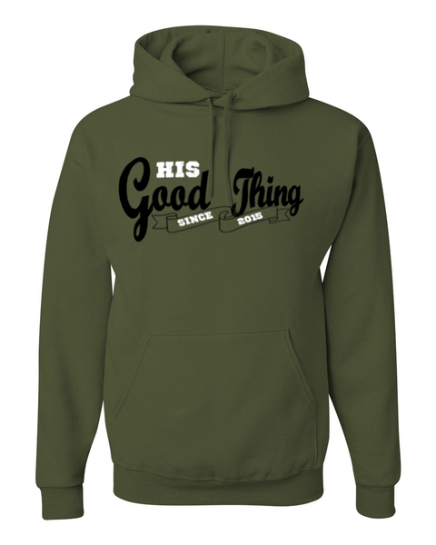 His Good Thing Since....Custom Ladies Hoodie -  - Christian T-Shirt | Christian Gifts | Christian Apparel - 2