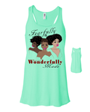 Fearfully and Wonderfully Made II Flowy Racerback Tank - Small / Mint - Christian T-Shirt | Christian Gifts | Christian Apparel - 8