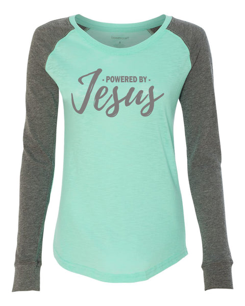 Powered by Jesus Light Weight Preppy Patch T-Shirt