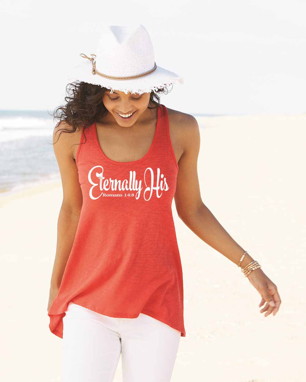 Eternally His Ladies Classic Fit Crochet Back Tank Top