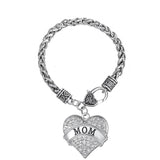 Mom Heart Shape Charm Bracelet