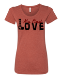 Jesus:  My First Love Ladies' Tri-blend Christian T-Shirt - S / Clay - Christian T-Shirt | Christian Gifts | Christian Apparel - 2