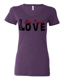 Jesus:  My First Love Ladies' Tri-blend Christian T-Shirt - S / Purple - Christian T-Shirt | Christian Gifts | Christian Apparel - 4