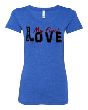 Jesus:  My First Love Ladies' Tri-blend Christian T-Shirt - S / True Royal - Christian T-Shirt | Christian Gifts | Christian Apparel - 6