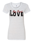 Jesus:  My First Love Ladies' Tri-blend Christian T-Shirt - S / White Fleck - Christian T-Shirt | Christian Gifts | Christian Apparel - 7