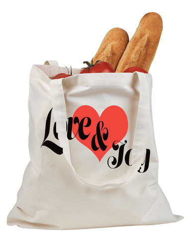 Love & Joy Cotton Canvas Tote - Natural - Christian T-Shirt | Christian Gifts | Christian Apparel - 1