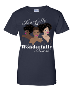 Fearfully and Wonderfully Made II Classic Fit (Crew Neck) Christian T-Shirt - Small / Black - Christian T-Shirt | Christian Gifts | Christian Apparel - 1