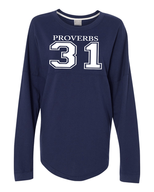 Proverbs 31 Dolman Sleeve Sweatshirt - Small / Navy - Christian T-Shirt | Christian Gifts | Christian Apparel - 4