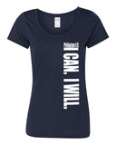 I Can. I Will. (Philippians 4:13) Women's Performance T-Shirt