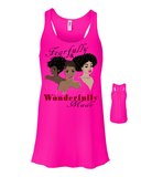 Fearfully and Wonderfully Made II Flowy Racerback Tank - Small / Neon Pink - Christian T-Shirt | Christian Gifts | Christian Apparel - 9