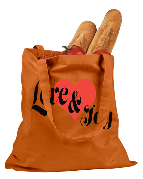 Love & Joy Cotton Canvas Tote - Orange - Christian T-Shirt | Christian Gifts | Christian Apparel - 2