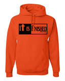 It is Finished Hooded Sweatshirt - Small / Orange - Christian T-Shirt | Christian Gifts | Christian Apparel - 2