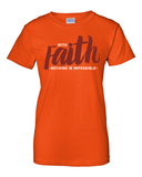 With Faith Women's Crew Neck Tee - Small / Orange - Christian T-Shirt | Christian Gifts | Christian Apparel - 6