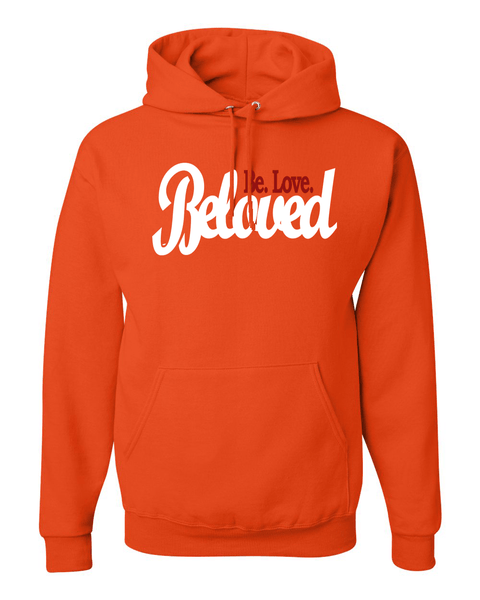 Beloved.Be.Love. Women's Hoodie - Small / Orange - Christian T-Shirt | Christian Gifts | Christian Apparel - 4