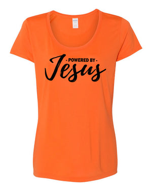 Powered by Jesus Women's Performance T-Shirt