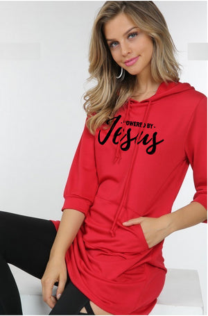 Powered by Jesus Hooded Tunic