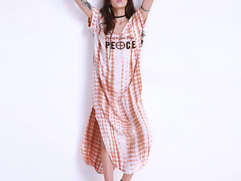Perfect Peace Tie Dye Maxi Dress