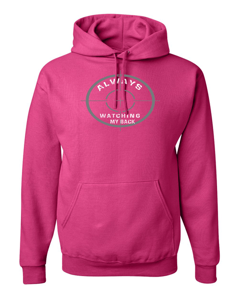 He's Always Watching My Back Hooded Sweatshirt - Small / Pink - Christian T-Shirt | Christian Gifts | Christian Apparel - 9