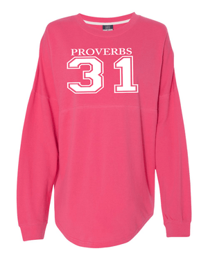 Proverbs 31 Dolman Sleeve Sweatshirt - Small / Pink - Christian T-Shirt | Christian Gifts | Christian Apparel - 5