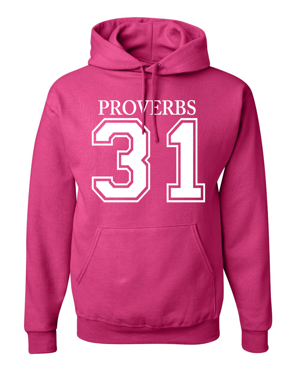 Proverbs 31 Hooded Sweatshirt - Small / Pink - Christian T-Shirt | Christian Gifts | Christian Apparel - 1