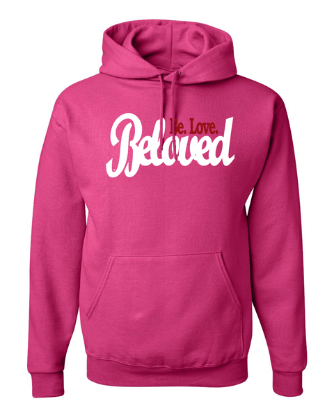 Beloved.Be.Love. Women's Hoodie - Small / Dark Pink - Christian T-Shirt | Christian Gifts | Christian Apparel - 5