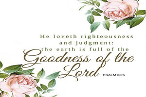 The Goodness of the Lord Scripture Printable