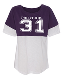 Proverbs 31 Women's Pom Pom Jersey - Small / Purple - Christian T-Shirt | Christian Gifts | Christian Apparel - 3
