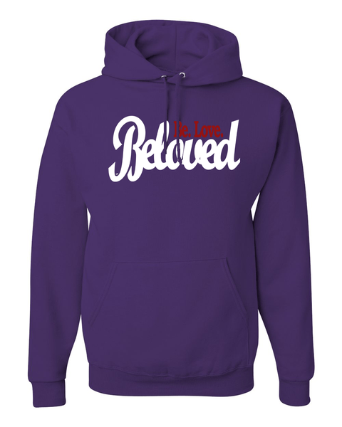 Beloved.Be.Love. Women's Hoodie - Small / Purple - Christian T-Shirt | Christian Gifts | Christian Apparel - 6