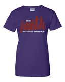 With Faith Women's Crew Neck Tee - Small / Purple - Christian T-Shirt | Christian Gifts | Christian Apparel - 7