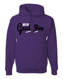 His Good Thing Since....Custom Ladies Hoodie - Small / Purple - Christian T-Shirt | Christian Gifts | Christian Apparel - 4