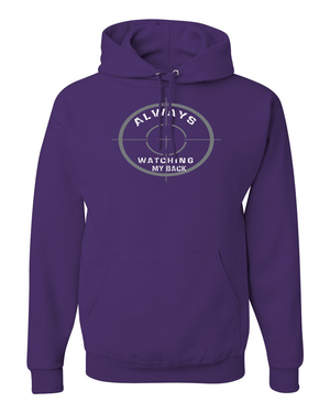 He's Always Watching My Back Hooded Sweatshirt - Small / Purple - Christian T-Shirt | Christian Gifts | Christian Apparel - 11