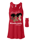 Fearfully and Wonderfully Made II Flowy Racerback Tank - Small / Red - Christian T-Shirt | Christian Gifts | Christian Apparel - 10