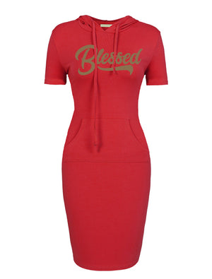 Blessed Women's Hooded Dress (Short Sleeve)
