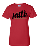 With Faith Women's Crew Neck Tee - Small / Red - Christian T-Shirt | Christian Gifts | Christian Apparel - 8