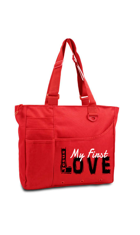Jesus My First Love Tote Bag