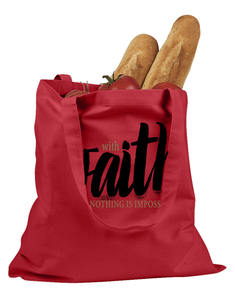 With Faith Tote Bag