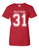 Proverbs 31Classic Fit Crew Neck Tee *Ships Same Day* - Small / Red - Christian T-Shirt | Christian Gifts | Christian Apparel - 4