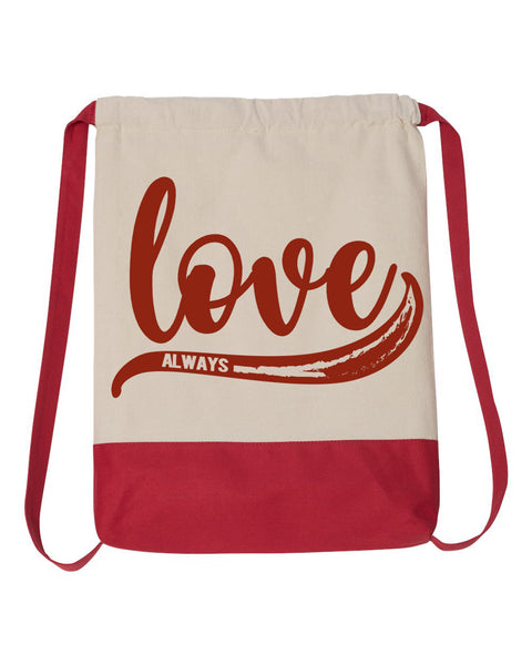 Love Always Drawstring Backpack
