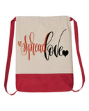 Spread Love Drawstring Backpack