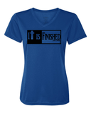 It is Finished Womens V-Neck Performance T-Shirt - Small / Royal - Christian T-Shirt | Christian Gifts | Christian Apparel - 6