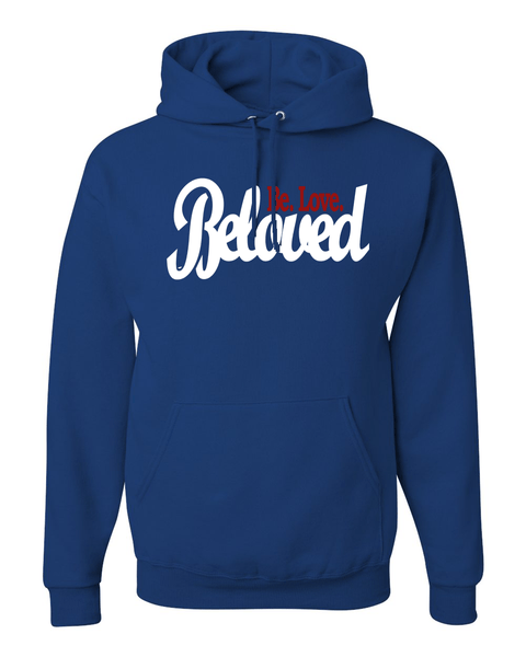 Beloved.Be.Love. Women's Hoodie - Small / Royal - Christian T-Shirt | Christian Gifts | Christian Apparel - 7