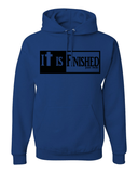 It is Finished Hooded Sweatshirt - Small / Royal - Christian T-Shirt | Christian Gifts | Christian Apparel - 4