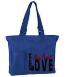 Jesus My First Love Tote Bag - Royal - Christian T-Shirt | Christian Gifts | Christian Apparel - 5