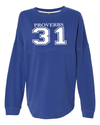 Proverbs 31 Dolman Sleeve Sweatshirt - Small / Royal - Christian T-Shirt | Christian Gifts | Christian Apparel - 6