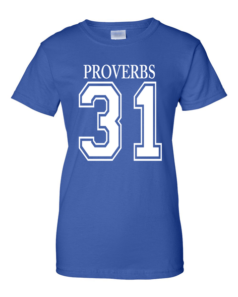 Proverbs 31Classic Fit Crew Neck Tee *Ships Same Day* - Small / Royal - Christian T-Shirt | Christian Gifts | Christian Apparel - 5