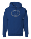 He's Always Watching My Back Hooded Sweatshirt - Small / Royal - Christian T-Shirt | Christian Gifts | Christian Apparel - 13